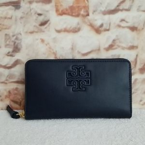 New Tory Burch Lily Zip Top Continental Wallet